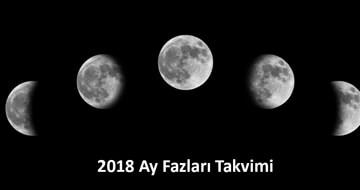 2018 Ay Fazları Takvimi